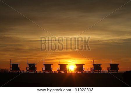 Lifeguard Houses on Beach