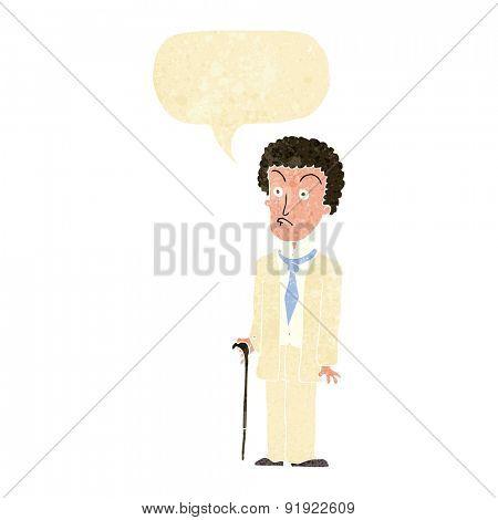 cartoon man in white suit