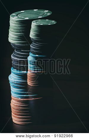 Abstract poker chips