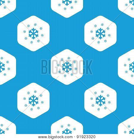 Snowflakes hexagon pattern