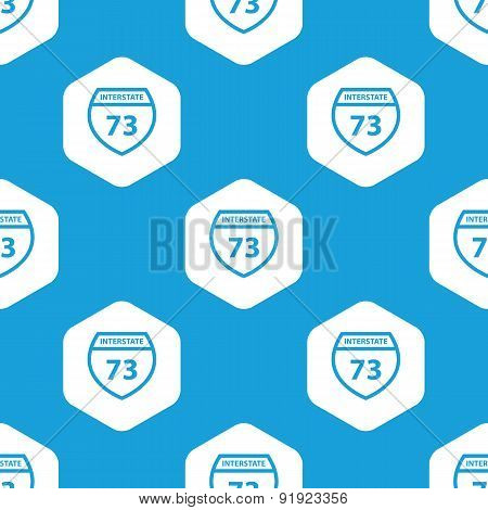 Interstate 73 hexagon pattern