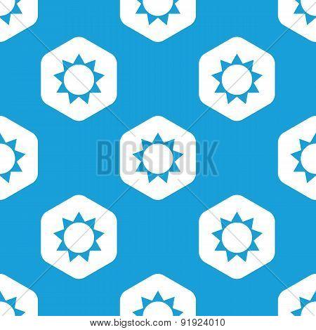 Sun hexagon pattern