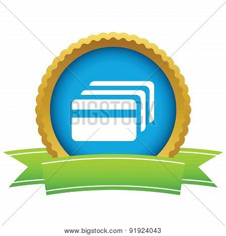 Credit card round icon
