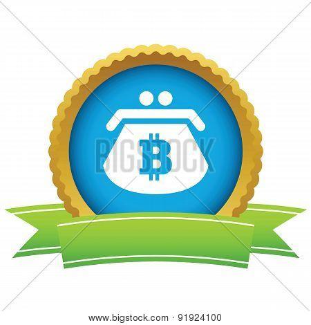 Bitcoin purse round icon