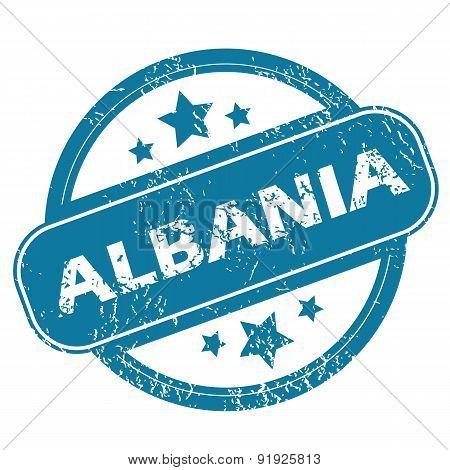 ALBANIA round stamp