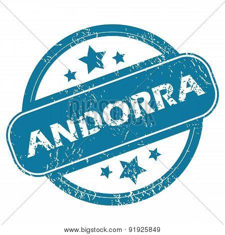 ANDORRA round stamp