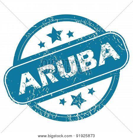 ARUBA round stamp