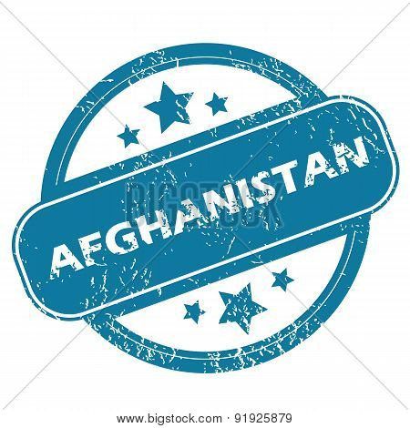 AFGHANISTAN round stamp
