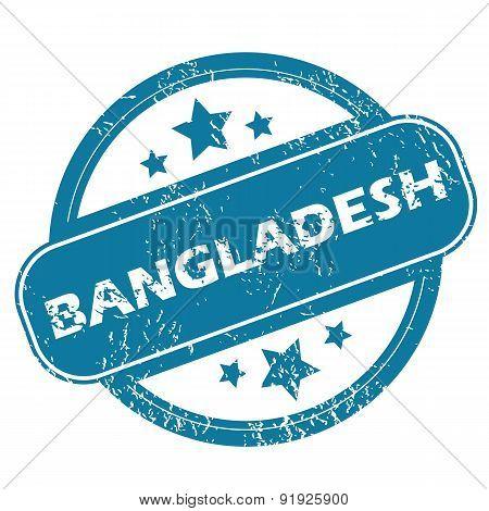 BANGLADESH round stamp