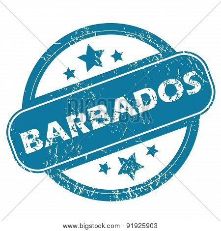 BARBADOS round stamp