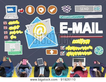 Email Correspondence Online Messaging Technologgy Concept
