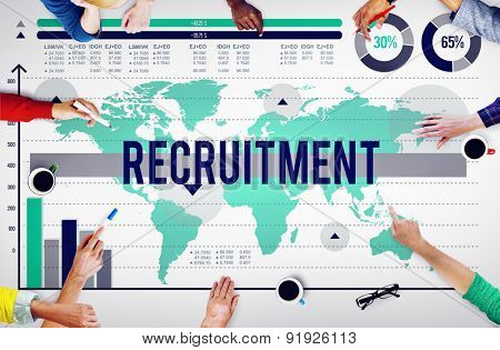 Recruitment Employment Hiring Job Staff Concept