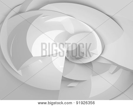 3D Round Chaotic Polygonal Surface Background