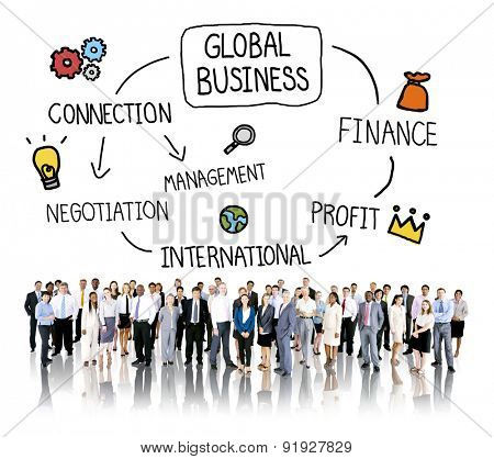 Global Business International Management Corporate Concept