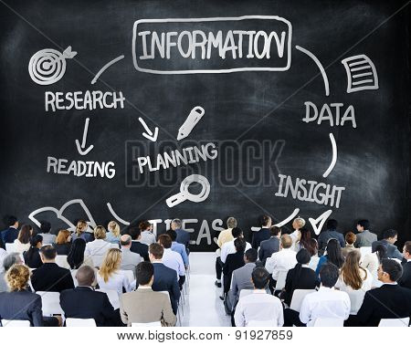 Information Data Learning Media Planning Concept