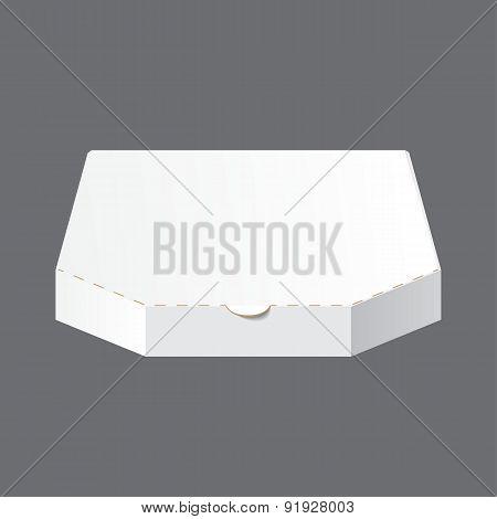 White Blank Carton Pizza Box