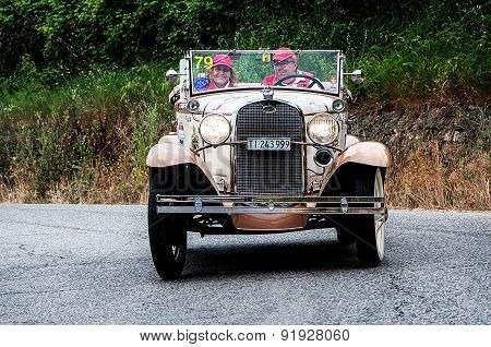 old car FORD A Roadster  1931  mille miglia 2015