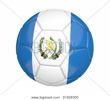 Soccer ball, or football, with the country flag of Guatemala