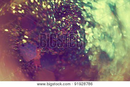 Super Macro Of Glitters