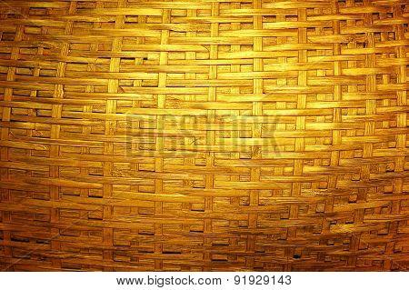Woven Dark Golden Bamboo