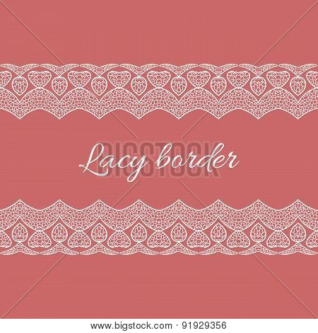 Ornamental lace border