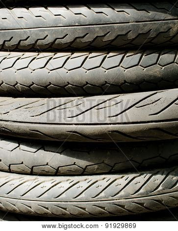 Tire stack background and texture