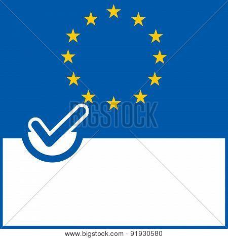 Voting Symbol Europe Flag