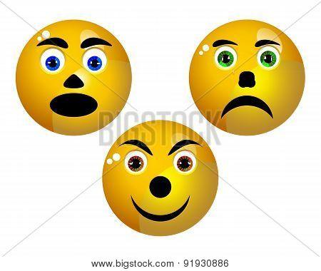 Three Smiley