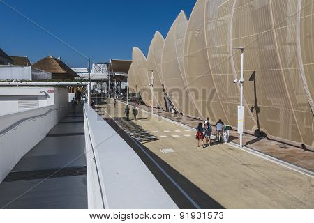 Architectural Shapes At Expo 2015 In Milan, Italy