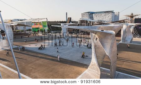 Top View Of Expo 2015 In Milan, Italy