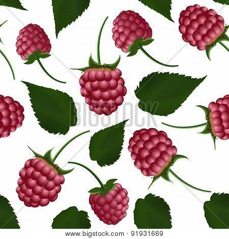 Fresh Raspberry Seamless Pattern