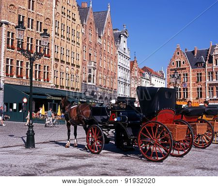 Horse Drawn Carriages, Bruges.