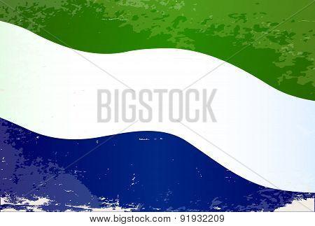 Sierra Leone Flag Grunge