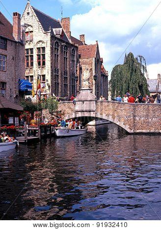 Bridge on the Dijver, Bruges.