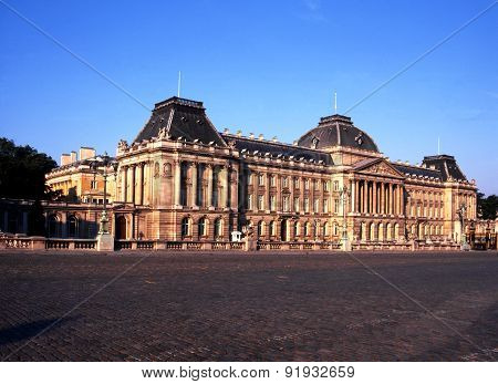 The Royal Palace of Brussels.