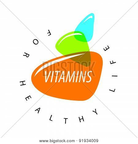 Abstract Vector Logo Colored Vitamins