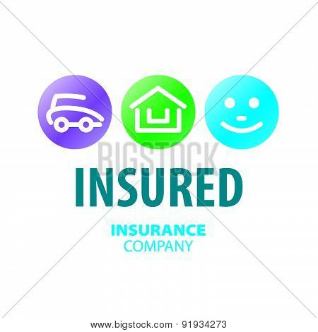 Vector Logo For Life Insurance, Car And Real Estate