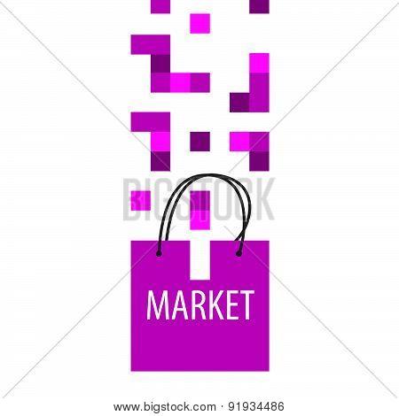 Vector Logo Shopping Bag Tetris