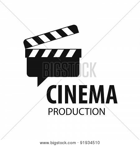 Vector Logo Slate Board For Shooting Movies