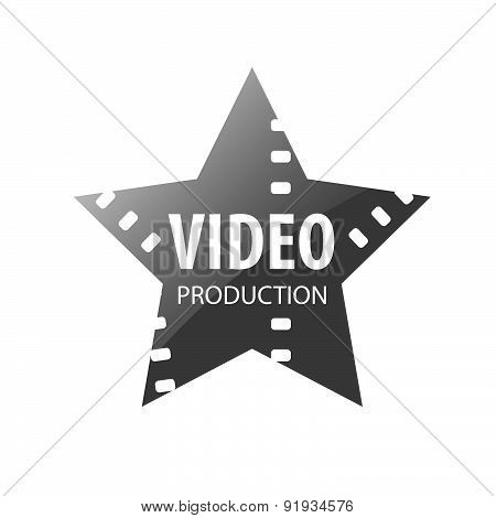 Vector Logo Video Shooting Star