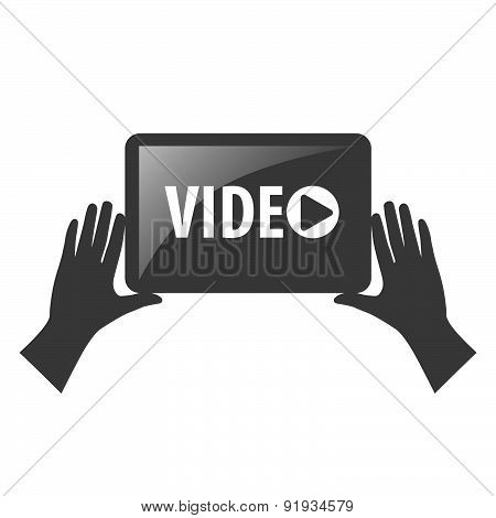Vector Logo View Video In The Hands