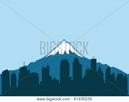 Vector illustration. City.