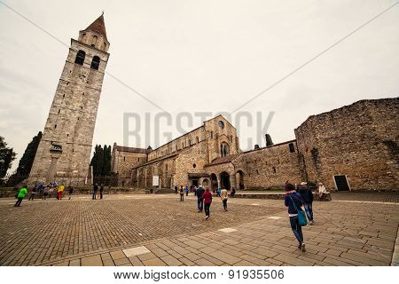 Basilica Di Santa Maria Assunta And Bell Tower Of Aquileia, Italy