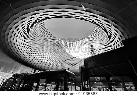 Basel, Switzerland - November 01 2014: Exhibition Center In The Old Town Of Basel In Switzerland