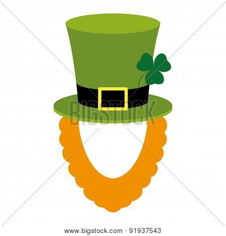 Vector mask. St. Patrick.