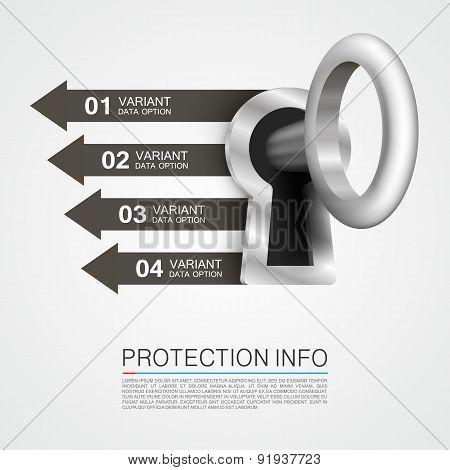 Protection info art key banner