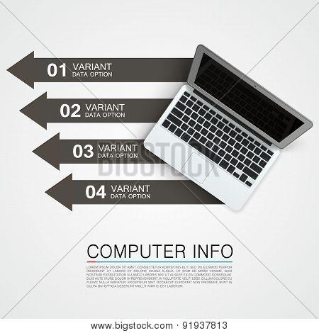 Computer info banner art creative