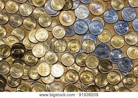 Indian coins background
