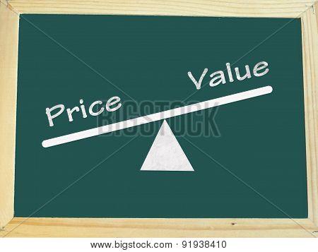 rising value and decreasing price concept