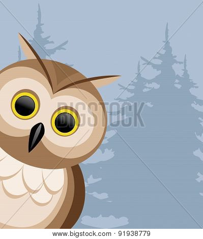 Vector illustration. Owl.
